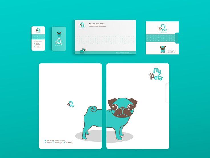 Creacion de Identidad corporativa y manual. Aplicaciones en papeleria corporativa: Hojas membretadas, recetas, tarjetas de presentación y wallpapers.