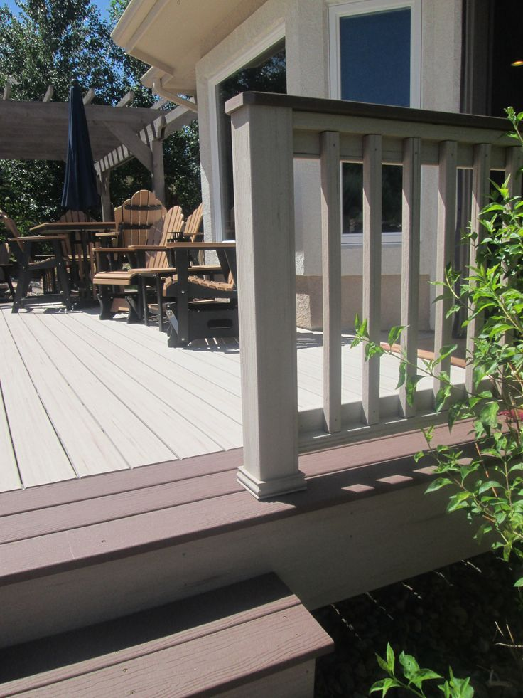 Two Tone Deck Outdoor Decor Pinterest Deck Railings