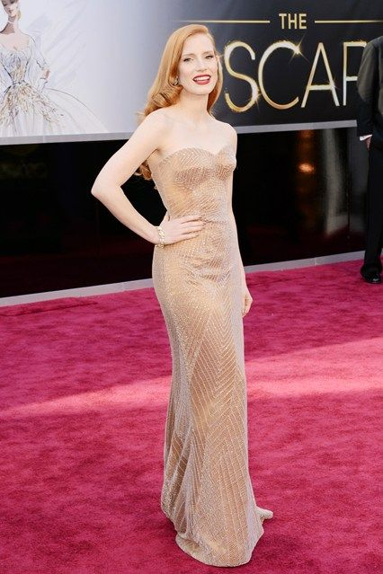 Jessica Chastain   Oscar Dresses 2013  Could be a Jessica Rabbit