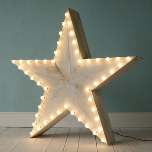Lighted stars for a party.
