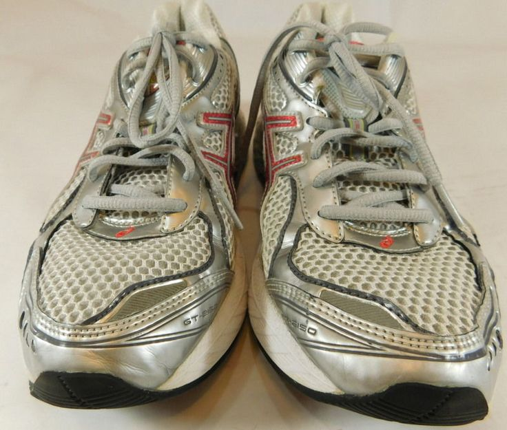 ASICS GT-2150 Size 9 Silver Pink Womens RUNNING SHOES Sneakers EUC Clean  TO54N #