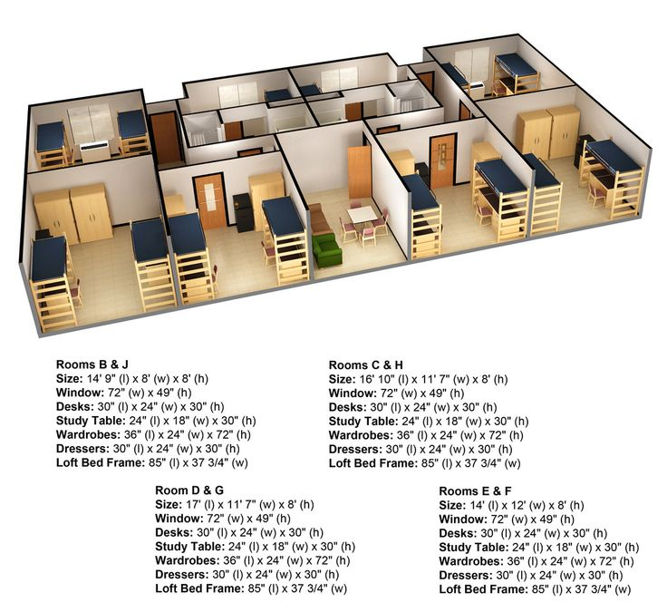Hostel floor 3d plans google hotel rooms for Turn floor plan into 3d model