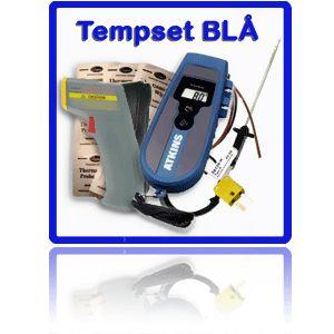 http://www.egenkontroll.nu/Mat-temperatur/TempSet-Bla.html  TempSet Blå  Använd IR-termometern CIR 350 för att scanna av yttemperaturen vid ankomst av livsmedel och i kylar och frysar. Använd sedan Econotemp II med insticksgivare för noggrannare undersökning av kärn- temperaturen...