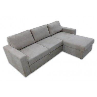 Γωνιακός καναπές κρεβάτι 227x160εκ. με αποθηκευτικό χώρο IM28  NATALIE Μπεζ