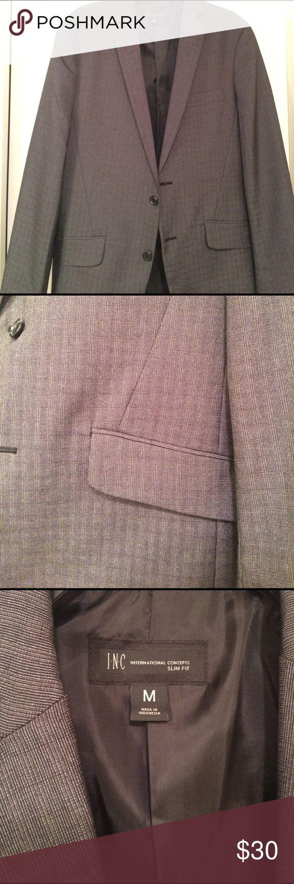 Inc slim fit blazer medium 38-40 charcoal plaid Used charcoal plaid inc blazer. Fits a 38-40 jacket size INC International Concepts Suits & Blazers Sport Coats & Blazers