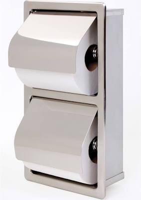 commercial recessed toilet paper holder