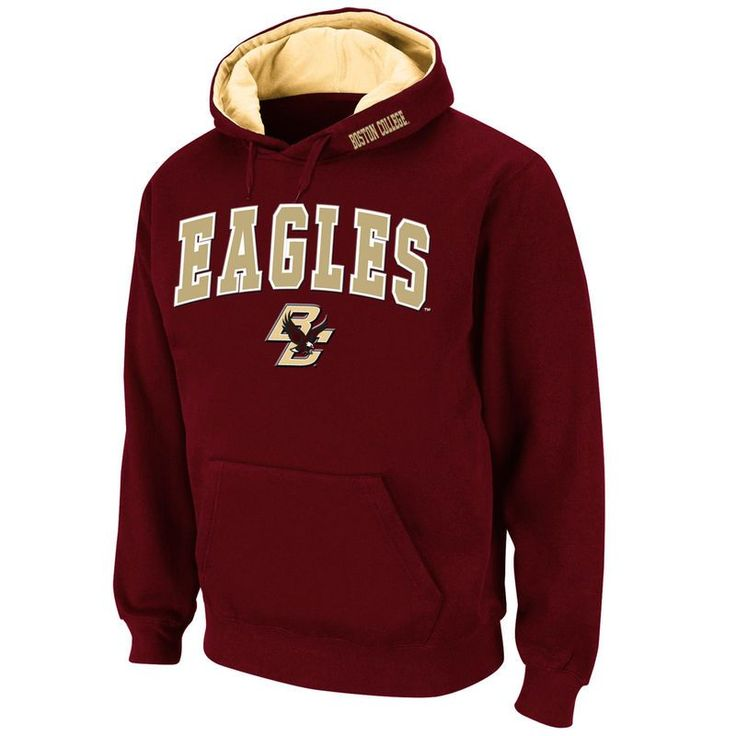Boston College Eagles Stadium Athletic Arch & Logo Pullover Hoodie - Maroon