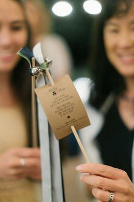 Custom Wedding Ribbon Wand Tags - such a great touch for when you walk back down the aisle!  Dont need a whole program - just a little note to