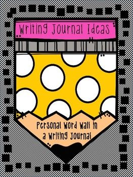 These two pages are designed to be a personal word wall for students. One page is glued to the front inside cover and the other page is glued to the back inside cover of a composition notebook or regular notebook. The page is designed to fit inside the small composition notebook.