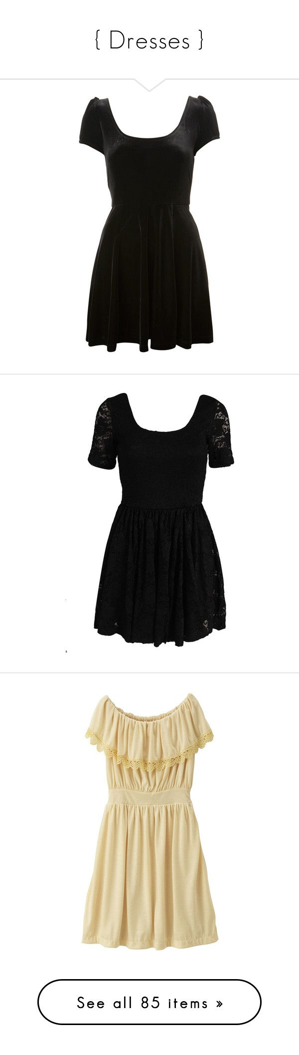 """{ Dresses }"" by golddustwomanxx ❤ liked on Polyvore featuring dresses, vestidos, short dress, black, women's clothing, velvet cocktail dresses, bow back dress, petite short dresses, short dresses and miss selfridge"
