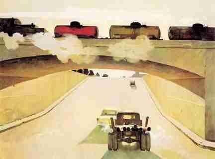 Morning Train -Tahir Salahov 1957