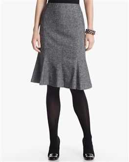 Tweed Trumpet Skirt from White House/Black Market.  Love it with the tights and pumps.  It's perfect for work.