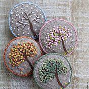 Купить или заказать Брошь 'Верба' в интернет-магазине на Ярмарке Мастеров. Брошка в винтажном стиле украсит Ваш гардероб и создаст весеннее настроение. Коллекция 'Herbarium'.