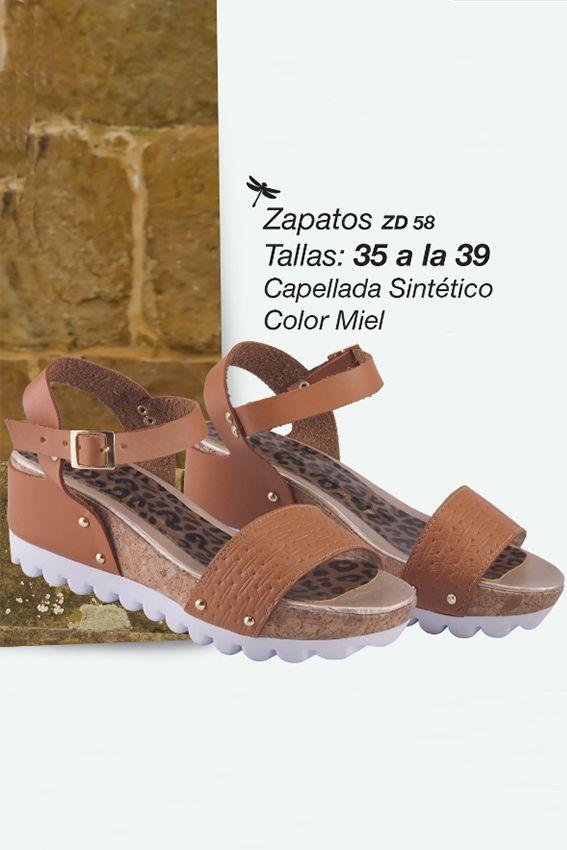 Lindos zapatos en sintético  Referenia: ZD58 Tallas: 35 a la 39 Color: Miel Precio: $65.000