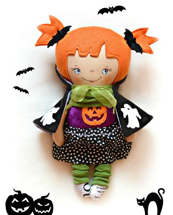 Halloween cloth doll Dress up doll for by Fairybugcreativetoys