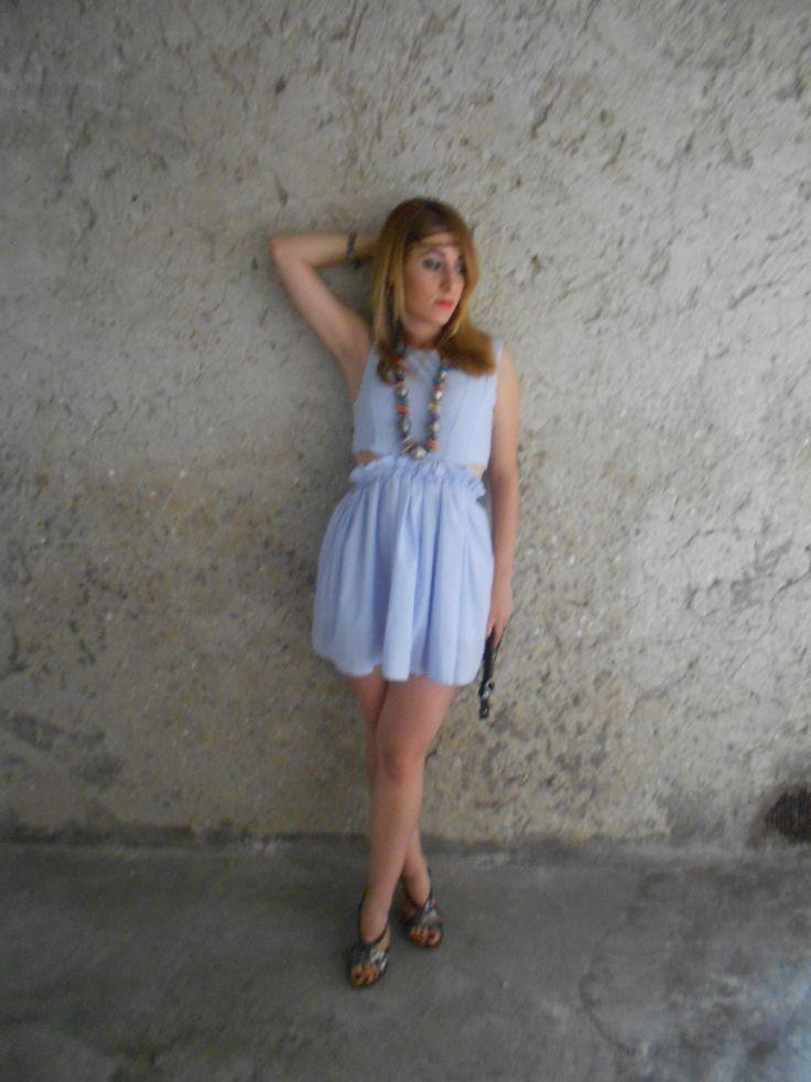 #choies #dress #summer #blue #party #Timelessmode #romantic