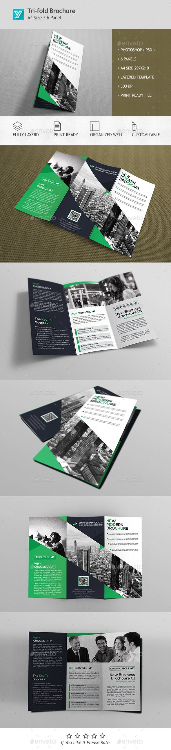 Corporate Tri-fold Brochure Template PSD #design Download: http://graphicriver.net/item/corporate-trifold-brochure-template-02/13434485?ref=ksioks