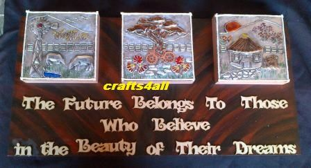 "Canvas "" Dreams "". We are situated in South Africa - Ravenswood. Boksburg. - We give Hand Metal Embossing Lessons. Pop Us a Mail for More Info. Visit Our Websites. www.crafts4all.co.za and www.woodwarehouse..."