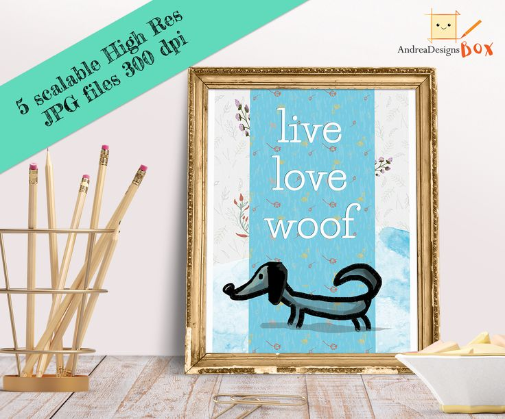 Quote Printable Poster, Wall Art, Digital Download, Kids Room, Gift Idea, Gift for Woman, Dog Poster,Nursery Animal Decor, Quote