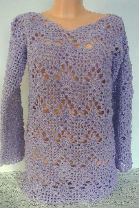FIALOVÝ NÁDECH fialová svetr dámy