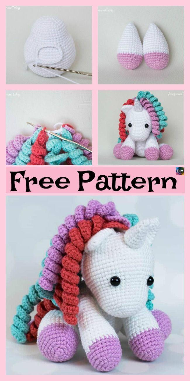 Patrón de Crochet en Inglés y Español - Mimi El Unicornio Amigable ... | 1300x650