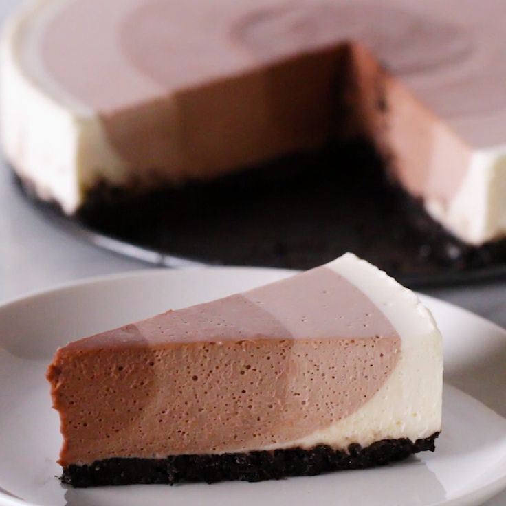 QChocolate Ripple Cheesecake