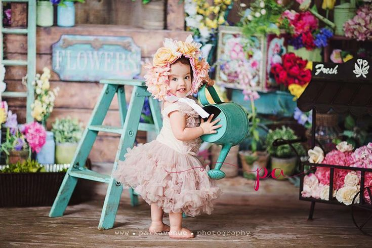 Rustic Flower Shoppe ~ Love this Photography Backdrop from Baby Dream Backdrops.