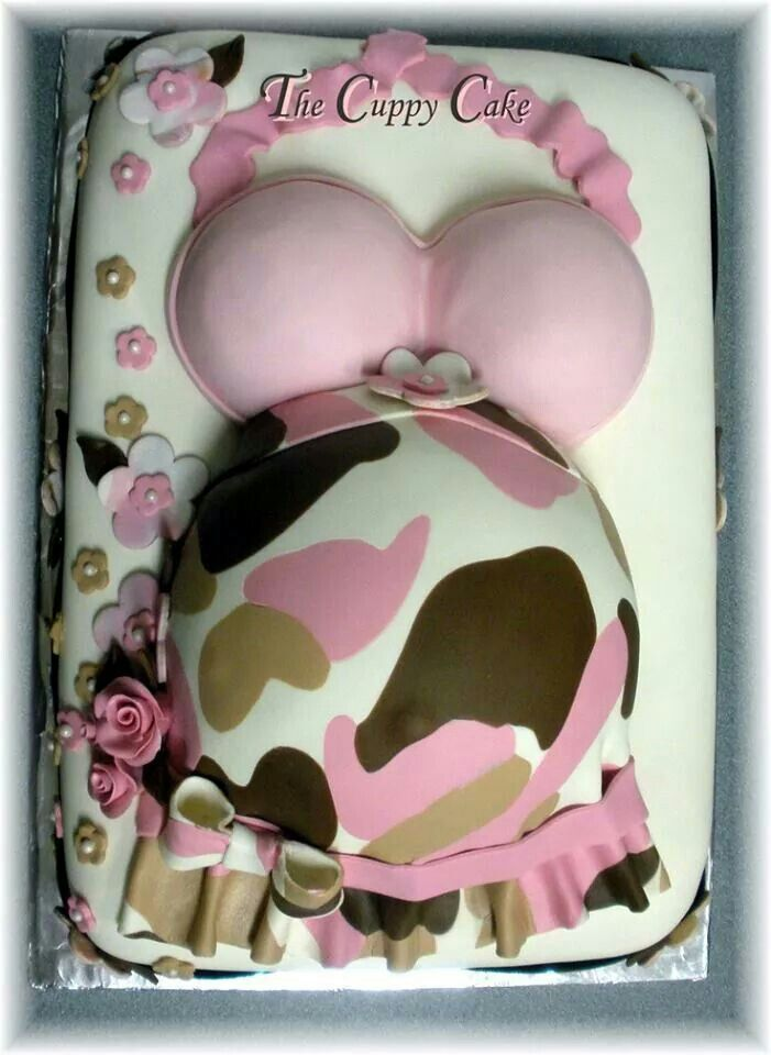 Pink Camo Baby Shower Cake! :)