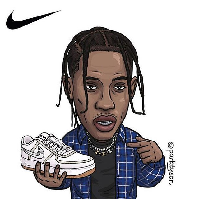 Pinterest Adc Travis Scott Wallpapers Sneaker Art Nike Cartoon