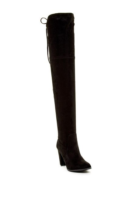 Image of Catherine Catherine Malandrino Sorcha Faux Fur Footbed Over-The-Knee Boot