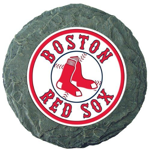 "MLB Boston Red Sox Stepping Stone:   0069707 MLB Team: Boston Red Sox Features: -Stepping stone.-Material: 100% Resin.-Weather proof. Dimensions: -13.5"" H x 13.5"" W x 0.78"" D, 3.81 lbs. Collection: -MLB collection."