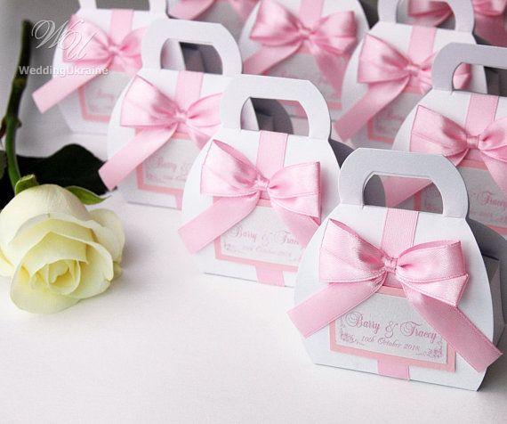 Light Pink Wedding Bonbonniere Elegant Favor Candy Boxes With Etsy Light Pink Wedding Wedding Gift Boxes Wedding Gifts For Guests