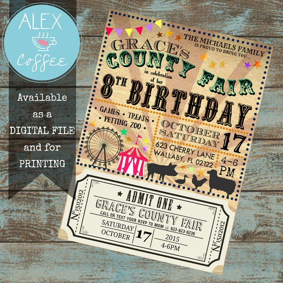 Vintage County Fair & Petting Zoo Customizable by AlexHeartsCoffee