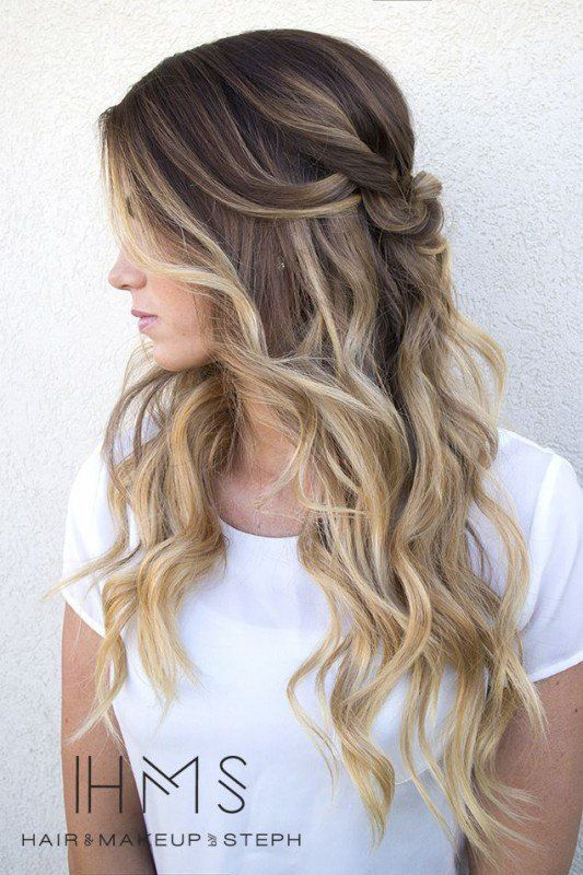 blonde highlights on dark hair