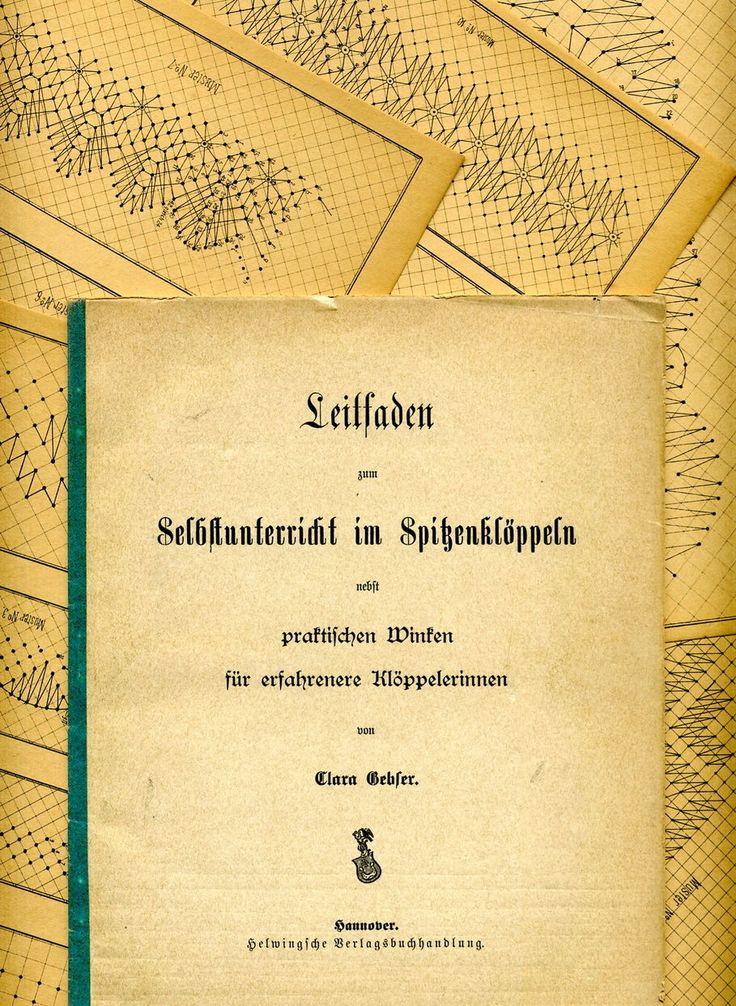 um 1890 - Clara Gebler / Leitfaden zum Selbstunterricht im Spitzenklöppeln | eBay