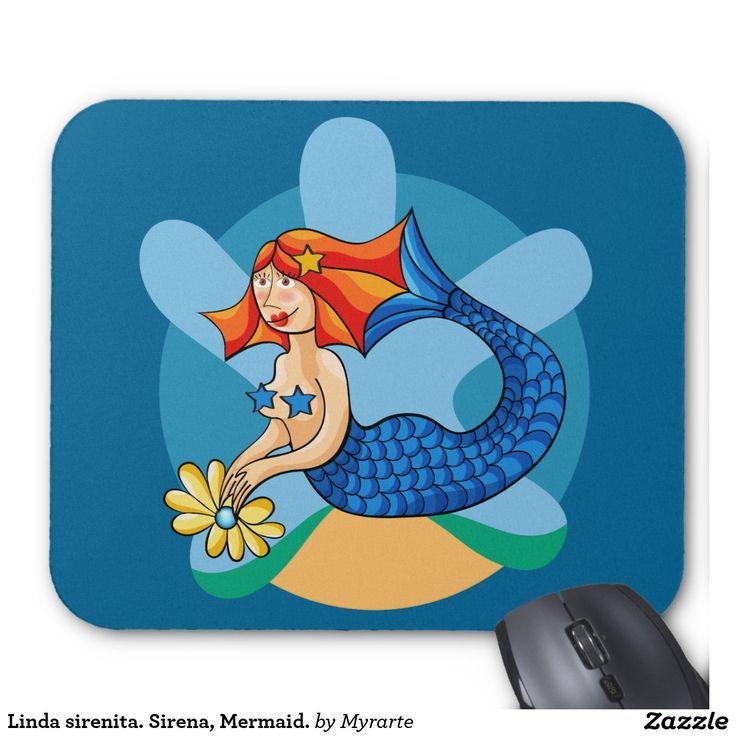 Linda sirenita. Sirena, Mermaid. Mouse Pad. Producto disponible en tienda Zazzle. Tecnología. Product available in Zazzle store. Technology. Regalos, Gifts. Link to product: http://www.zazzle.com/linda_sirenita_sirena_mermaid_mouse_pad-144126282522218204?CMPN=shareicon&lang=en&social=true&view=113844229744519726&rf=238167879144476949 #Mousepads #sirena #mermaid