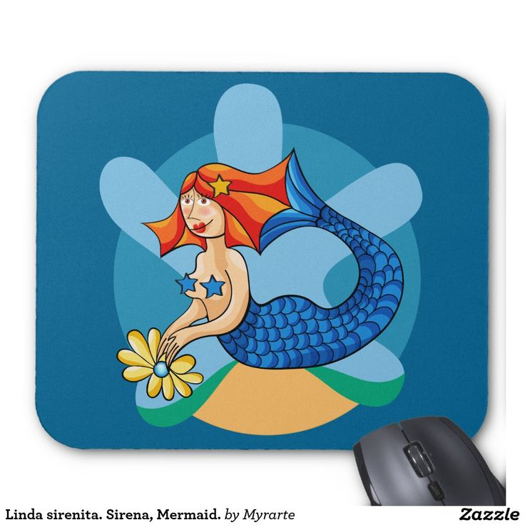 Linda sirenita. Sirena, Mermaid. Mouse Pad. Producto disponible en tienda Zazzle. Tecnología. Product available in Zazzle store. Technology. Regalos, Gifts. Link to product: http://www.zazzle.com/linda_sirenita_sirena_mermaid_mouse_pad-144126282522218204?CMPN=shareicon&lang=en&social=true&view=113844229744519726&rf=238167879144476949 #Mousepads #sirena #mermaid