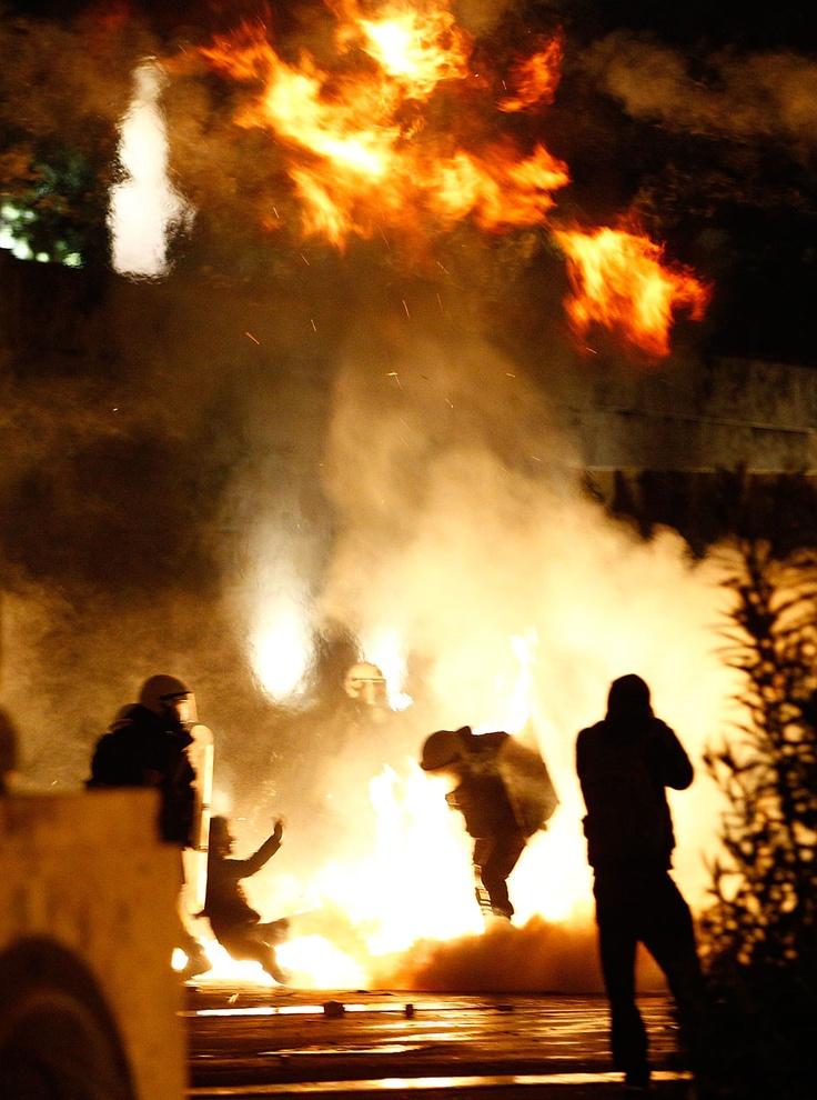 Photos of Greece in turmoil: Protesters riot over EU austerity measures