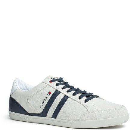 Iconic Nubuck Leather Runner, Sneakers Basses Homme, Bleu (Vintage Indigo 014), 45 EUTommy Hilfiger