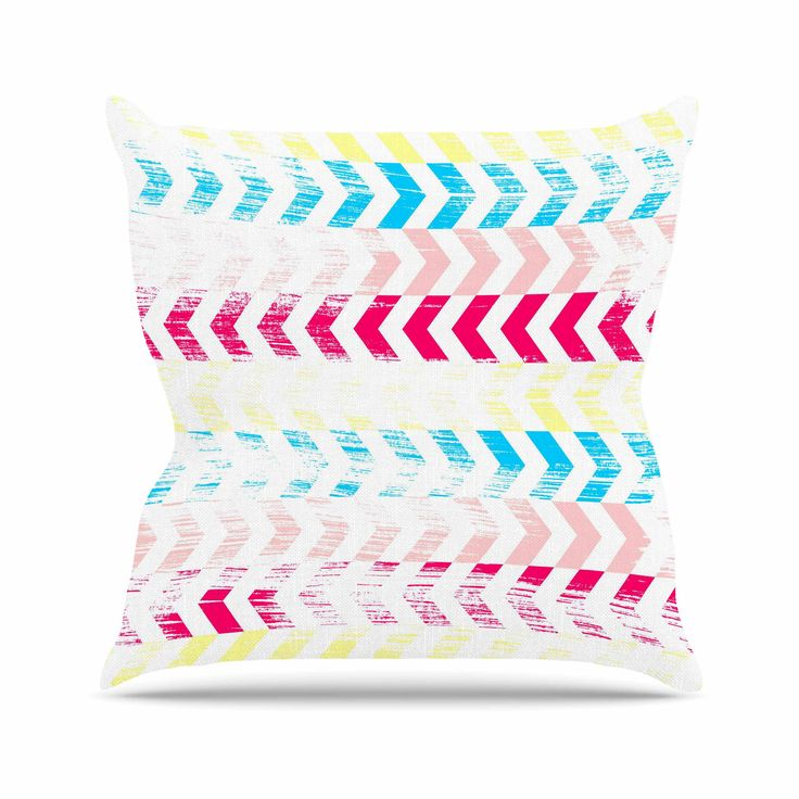 "Louise Machado ""Arrow"" Magenta Art Deco Throw Pillow"