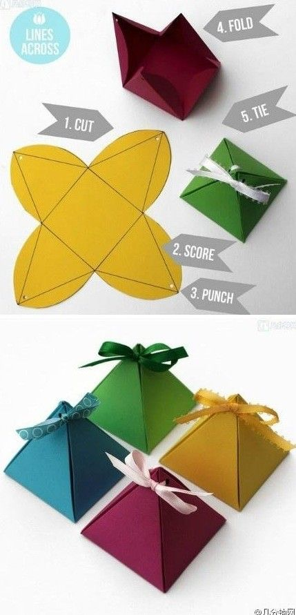 Diy triangle treat boxes