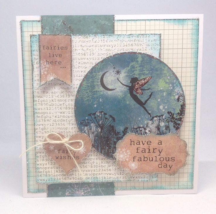 Card created using Essentials Library paper pad, made by Julie Hickey. Sentiments and Topper from Fairyland Collection. www.craftworkcards.com