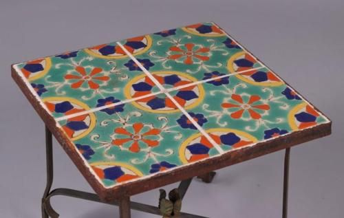 Spanish-Revival-CA-Arts-amp-Crafts-Tile-Top-Table-1920s-Lot-810