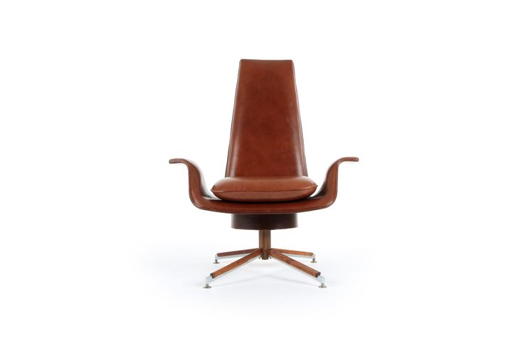 Alf Svensson Leather Armchair  - Mr. Bigglesworthy Designer Vintage Furniture Gallery