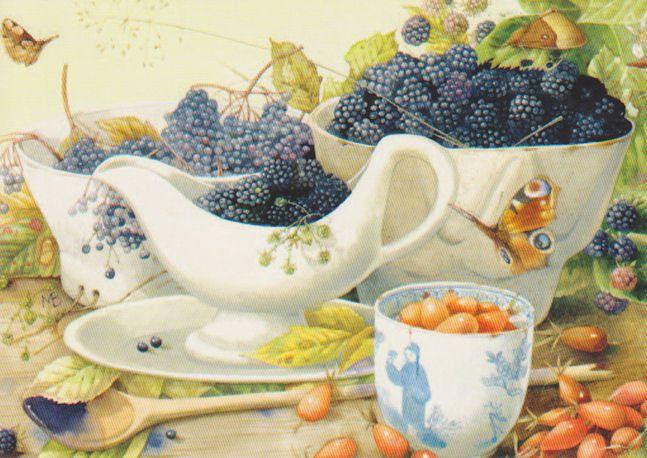 Blackberries are served.   Marjolein Bastin