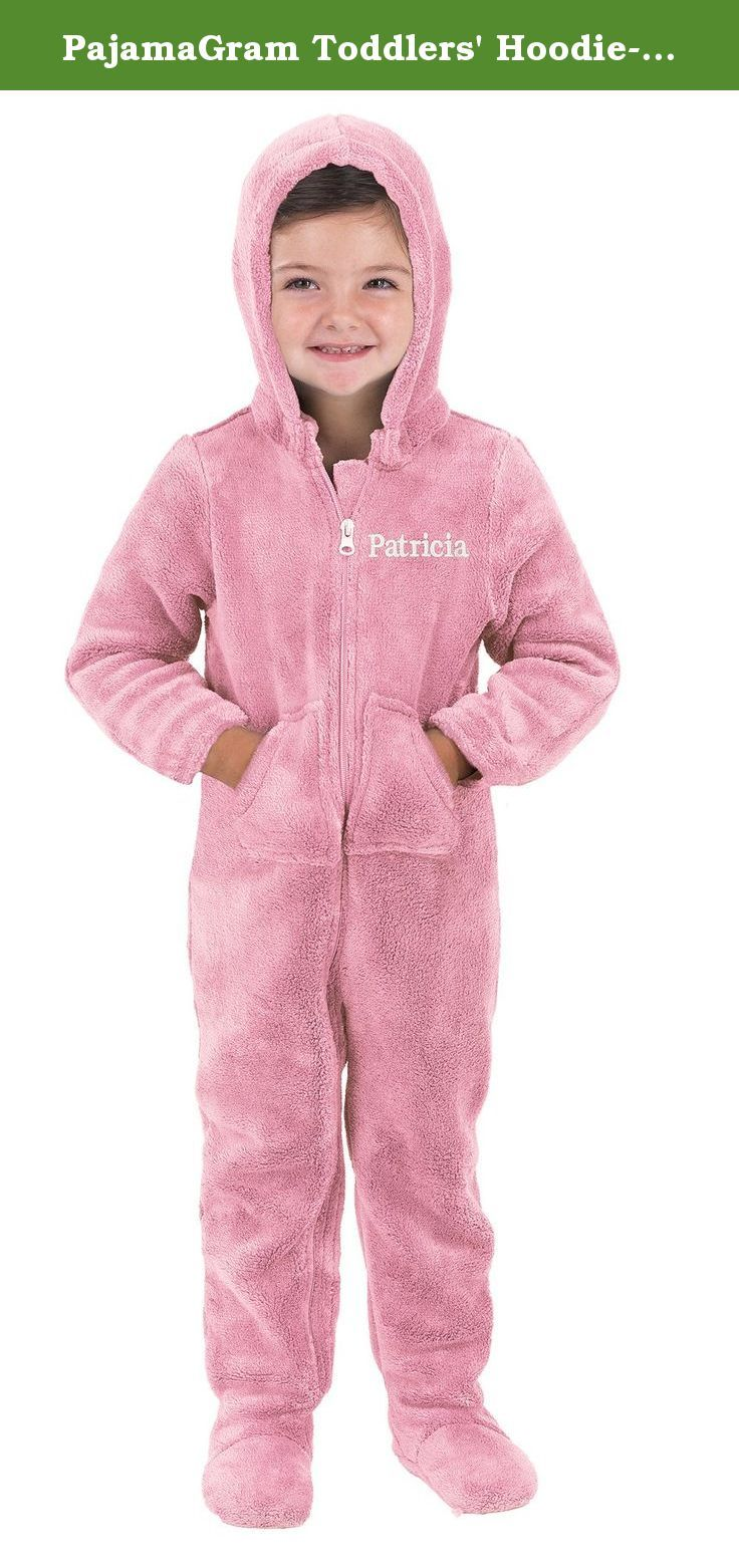 PajamaGram Toddlers' Hoodie-Footie™ Pink Fleece Onesie Pajamas. She'll be snug as a bug in a rug in this darling pink toddler Hoodie-Footie™ from PajamaGram! Made with marshmallow-soft microfleece, these toddler footie pajamas bring the ultimate warmth and cuteness. Each pair is equipped with a removable hood, warm footies and kangaroo pockets that will keep her hands nice and toasty! For child's safety, children's sleepwear should be snug-fitting or flame resistant. This garment is flame...