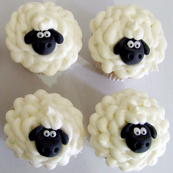 Shaun The Sheep cupcakes - Wool-y adorable! The Shaun The Sheep Movie is coming to America – In theaters August 5, 2015!