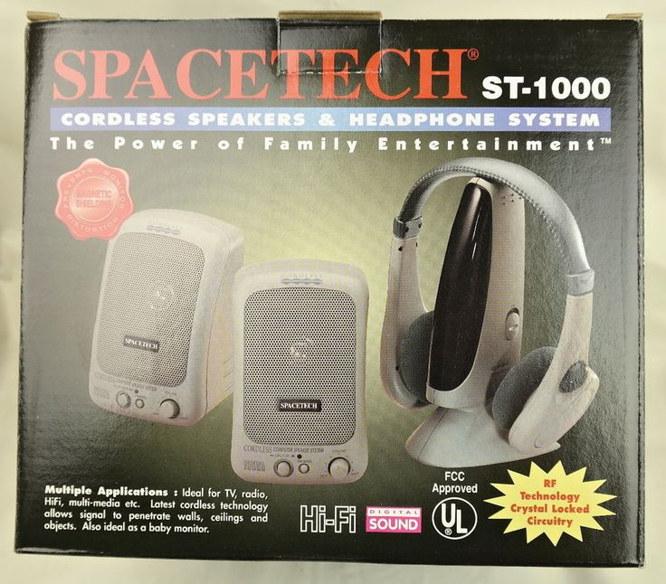 Spacetech ST-1000 Cordless Speakers & Headphone System #Spacetech
