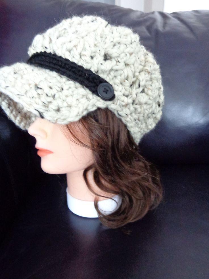 Crochet Gifts Design; Crochet Newsboy Hat
