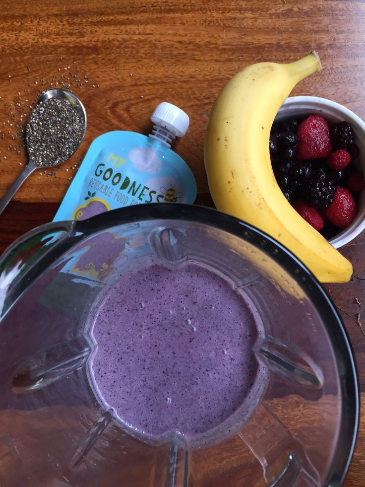 Superfood Summer Smoothie A sweet summer snack jam-packed full of all the good stuff.
